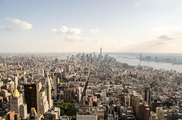 aerial view of nyc real estate market